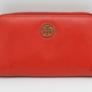 Tory Burch Coral Leather Wallet